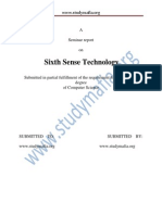 CSE Sixth Sense Technology Report