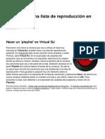Como Crear Una Lista de Reproduccion en Virtual Dj 10596 Ndjgpf