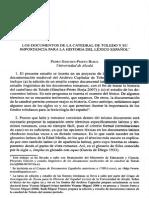 DoLOS DOCUMENTOS DE LA CATEDRAL DE TOLEDO