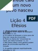 Ebd - Efésios Lição 4