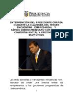 08 11 07 Discurso Encuentro Empresarial Civico Iberoamericano
