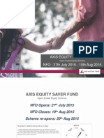 Acumen Presentations Axis Equity Saver Fund NFO PPT