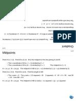 Coordinate Geometry Cards