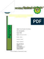 Producción de Biol Como Fertilizante Líquido Organico en La Provincia de Cutervo