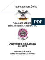 Trabajo de Laboratorio Nr 4 de Laboratorio de tecnogia de concreto