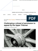 Challenging a Refusal of Permission to Appeal by the Upper Tribunal
