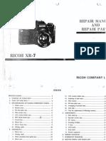 Ricoh XR7 Camera Repair Manual