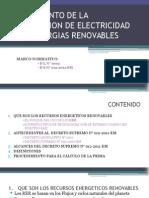 Reglamento de La Generacion de Electricidad Con Energias Renovables