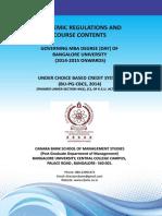 MBA Syllabus 2014 15 Scheme