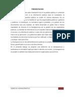 transparencia y acceso a la información publica
