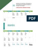Calendário para estudos