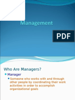 WHAT IS MANAGEMENT AND MANAGERS