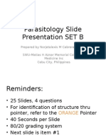 Parasitology Slide Presentation SET B