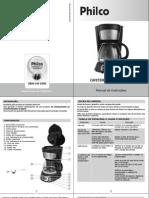 Manual Cafeteira Philco Digital PH14 – Preto Aço Escovado