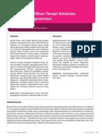 Analisis Pemilihan Terapi Kelainan Kulit Hiperpigmentasi