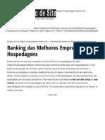 Ranking Das Melhores Empresas de Hospedagens – Hospedagem de Site