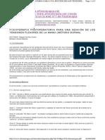 Fisioterapia Postoperatoria Para Una Sección de Los Tendones Flexores de La Mano