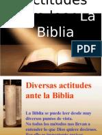 Actitudes Ante La Biblia