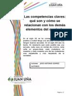 Las Competencias Clave, relación con el currículum