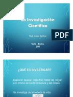 La investigación cientifica
