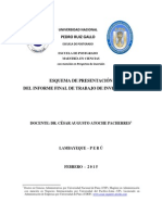 Esquema Informe Final Trabajo Investigación 2015