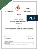 interpretation tax statutes