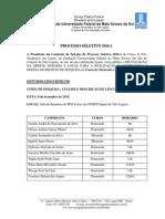 Divulgação Da Ordem - Horário e Local Da Entrevista e Defesa Do Projeto de Pesquisa - Processo Seletivo 2016.1 (1)