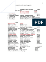 Lista Asociaţiei Maeştrilor Artei Coregrafice