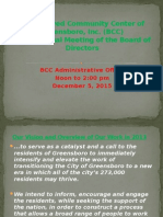 BCC of GSO Semi-Annual Report for BOD (December 2015). Nelson's Edits