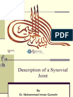 Description of a Synovial Joint