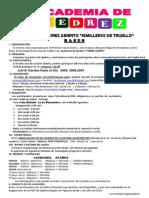 Bases II Torneo de Ajedrez Abierto Semilleros Trujillo Peru 2015