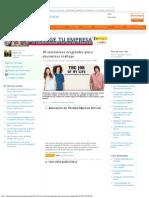 10 Iniciativas Originales Para Encontrar Trabajo - ElEconomista (31.01.2013)