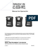 Detector de Gas Amoniaco - MSA AltairPro NH3