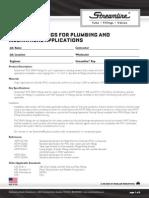 PVC DWV Fittings Plumbing and Mechanical Applications