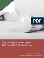 CWS Summit 2015 - Driving Improvements in Established Programs.pdf