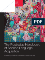 The Routledge Handbook of Second Language Acquisition
