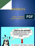 Variables Princ-7ma Clase