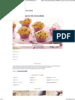 Ricetta Muffin Con Gocce Di Cioccolato - Le Ricette Di GialloZafferano