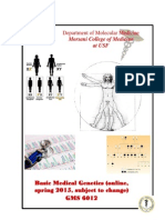 GMS 6012 Basic Medical Genetics Syllabus Spring 2015, Blanck v4