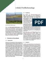 Photovoltaik-Freiflächenanlage