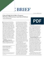 Heritage Backgrounder on Federal Flight Deck Officer Program