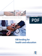 EIB lending for health and education - financing Europe's human capital