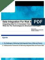 Data Integration for Risk and Finance