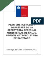 Plan de Emergencias Ante Desastres SEREMI