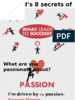 8 Secrets of Success Ppt Video and Discussion 1