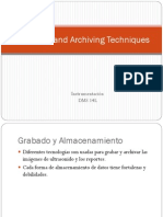 recording and archiving tecniques