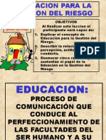 Educación Para Gestión Del Riesgo