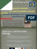 1. Acción Geológica Aguas Superficiales