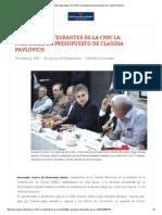 01-12-15 Respaldan integrantes de la CMIC la propuesta de presupuesto de Claudia Pavlovich -  Diario El Observador
