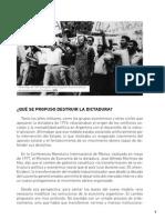 Cuadernillo La Última Dictadura